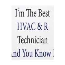 The Best HVAC R Technician And You Know It Custom Letterhead by