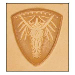 Tandy Leather 3D Dragon Shield Stamp 8565 00 Electronics