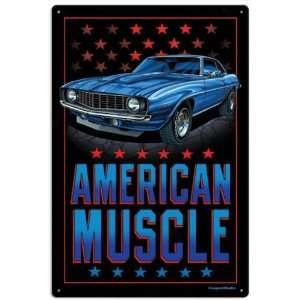 American Muscle Hot Rod Vintage Metal Sign