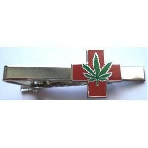 Medical Marijuana Pot Hemp Legalize Cannabis Weed Tie Bar