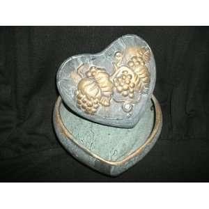 Ceramic Heart Shaped Trinket Box