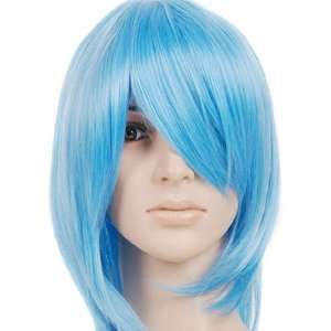 Light Blue Short Shoulder Length Anime Cosplay Wig Costume