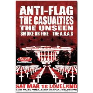 Anti Flag Poster   Concert Flyer   For Blood and Empire