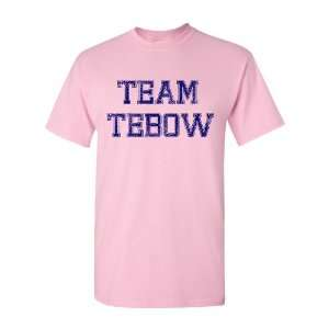 Team Tebow Pink Distressed Adult and Youth T Shirt by BBG