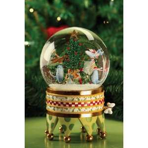 Patience Brewster Dogs Waterglobe Music Box Home
