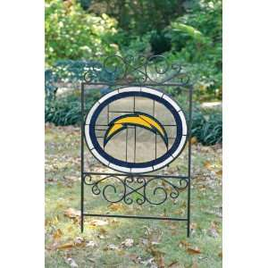 SAN DIEGO CHARGERS Team Logo STAINED GLASS YARD SIGN (20