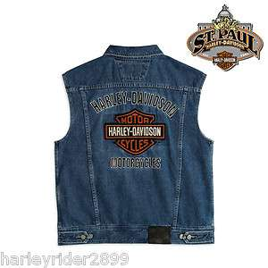 Harley Davidson® Bar & Shield Logo Denim Vest 99041 08VM