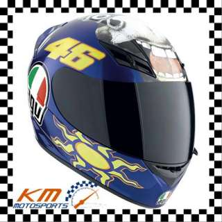 AGV K3 VALENTINO ROSSI THE DONKEY XL X LARGE MOTORCYCLE STREET HELMET