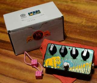 New Z.Vex Hand Painted Woolly Mammoth Fuzz +Cable ZVex