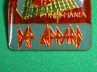 Def Leppard Tour Pin Badge Enamel Metal 80s Pyromania
