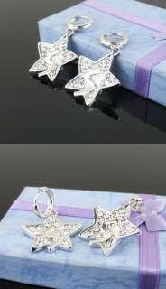 Korean SS501 Czech Stone Five pointed Star Earring DE18