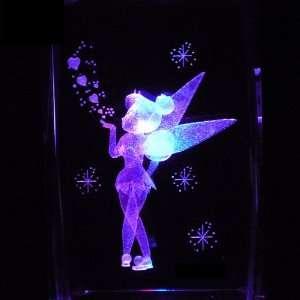 3D Laser Etched Crystal includes Two Separate LEDs Display Light Base