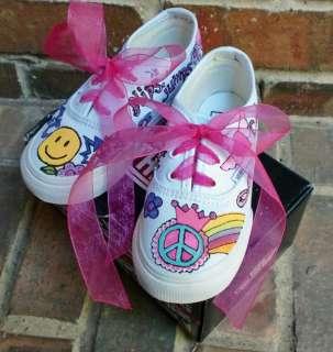 Custom Skater Painted Vans Shoe Girl Boy DBS Boutique