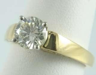 LADY 18K SOLID GOLD PLATINUM DIAMOND ENGAGEMENT RING