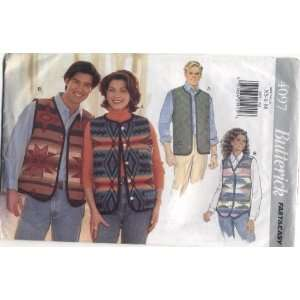 Fast & Easy Unisex Vest Sewing Pattern #4097 Arts, Crafts & Sewing