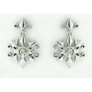 Diamond White Gold Stud Earrings Star Shape 10 Karat Gold Jewelry
