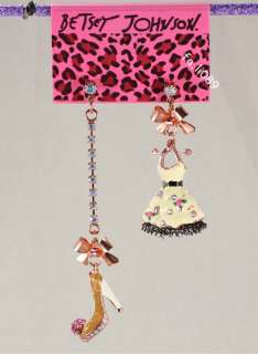 Betsey Johnson CHARMS Skirt high heel shoes Necklaces Earring set Free