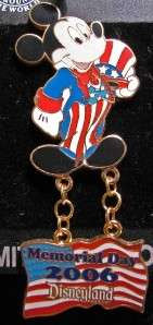 Disney Memorial Day Mickey Mouse as Uncle Sam Pin NEW
