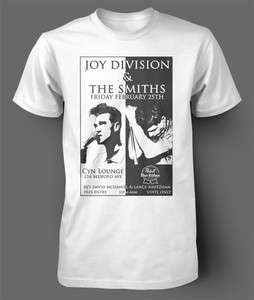 SHIRT Joy Division The Smiths Gig Flyer Tour Poster cure