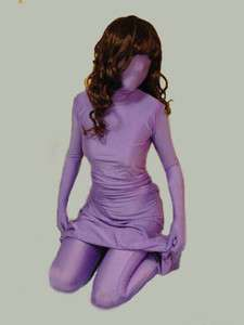 Full body lycra spandex zentai catsuit and dress 2pc size S XXL