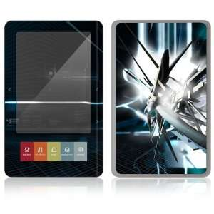 Nook E Book Decal Vinyl Skin   Abstract Tech City