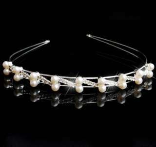 Bridal Prom Crown Veil Tiara Headband Rhinestone Crystal Clear 8styles