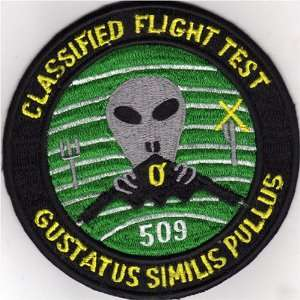 509th Taste Like Chicken Classified Flight Test Patch Office Products