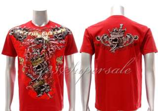 a42 Artful T shirt Sz XL Tattoo Rock Skull Punk Street Fighter Warrior