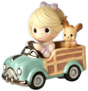 NEW Precious Moments GIRL IN CAR Puppy DOG Figurine ☆