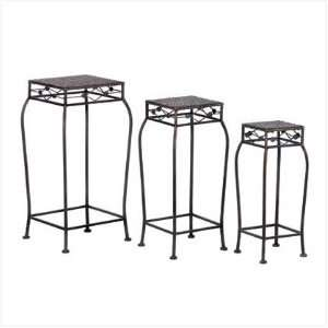 3Pc French Market Home Decor Plant Stands Shelf Rack Home & Kitchen
