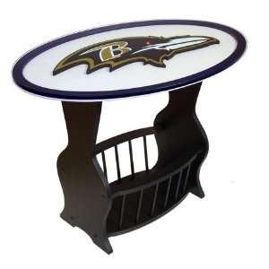 Baltimore Ravens Glass End Table