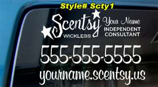 12x9 SCENTSY WICKLESS CANDLE PERSONALIZED BUSINESS DECAL STICKER CAR