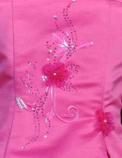 BRIDESMAID FLOWER GIRL DRESS FUCHSIA 4 6 8 10 12 14 826