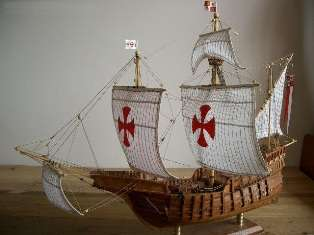 Fully Assembled Wooden Ship Model   Santa Maria 1492
