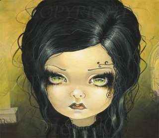 Taradoll Doll Lowbrow gothic fantasy big eyes original painting bjd
