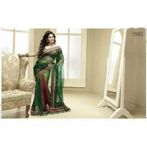 Designer Embroidered Lehenga Style Drapes Party Wear Saree