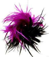 New Large Multi Purple & Black Feather Swirl Hair Clip Claw Jaw