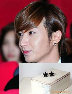 Korean Super Junior Yesung Black star Earrings DE01