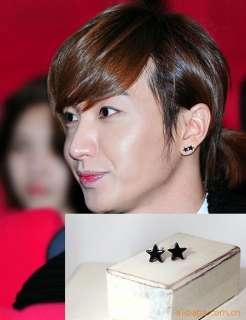 Korean Super Junior Yesung Black star Earrings DE01