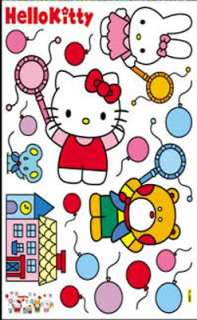 Cute Hello Kitty Color Ball Kids Home Wall Art Decor Stickers Cool