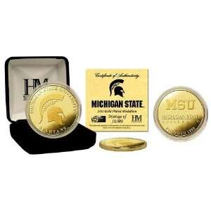 Michigan State University Spartans 24KT Gold Coin