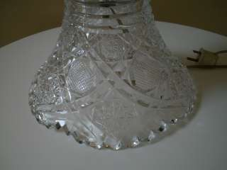 YASEMIN American Brilliant style Cut Glass Boudoir Lamp
