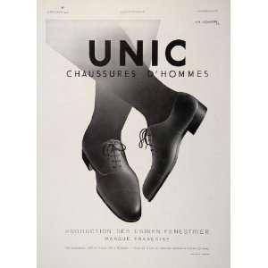 1932 French Ad Unic Mens Shoes A M Cassandre Art Deco   Original