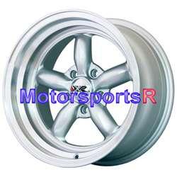 Silver Rims Deep Dish Wheels Old shool 65 67 68 Ford Mustang GT