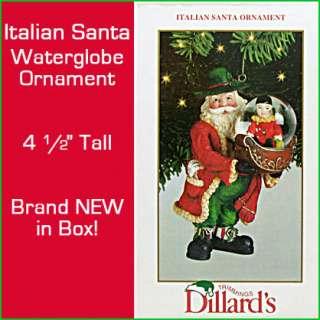 Italian Vintage SANTA w/CLOWN Water~SNOW GLOBE CHRISTMAS Ornament NEW