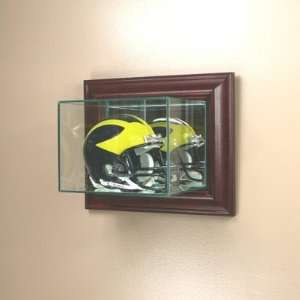 Mini Helmet Display Case with Cherry Wood Molding
