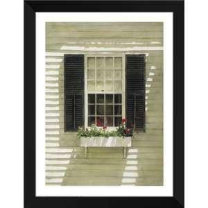 Doug Brega FRAMED Art 28x36 Nantucket Window Box