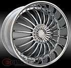 20X7.5 ET 38 CHROME ELURE 024 WHEELS RIMS 4 OR 5 LUG FRONT WHEEL DRIVE