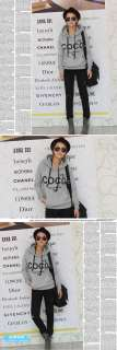 Fashion Women Casual Pullover hoodies Sweatshirt Jacket Coat Gray