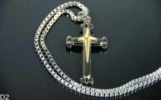 New Mens Christian Stainless Steel Religions Cross Jesus Christ